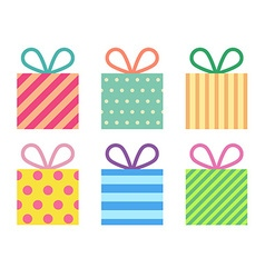 Isolated flat gift boxes vector