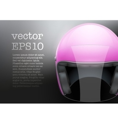 Pink woman motorcycle helmet vector