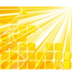 Solar banner - orange card vector