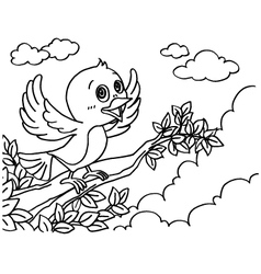 Bird coloring pages vector