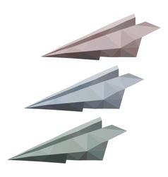 3 paper planes vector