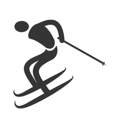 Trainning sport isolated flat icon vector