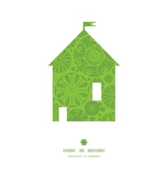abstract green and white circles house silhouette vector image