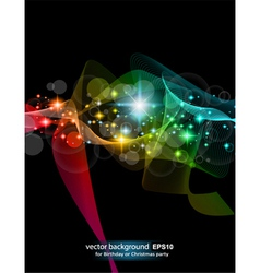 abstract rainbow flow vector image vector image