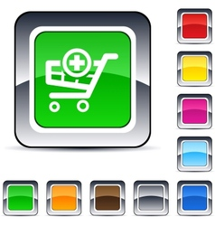 add to cart square button vector image vector image