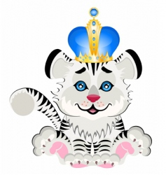 Animal king cartoon vector