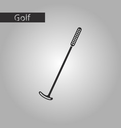 black and white style icon golf club vector image vector image