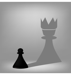 Black pawn vector