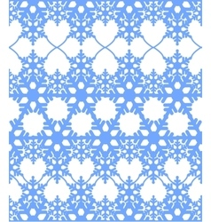 Blue seamless abstract winter background vector image