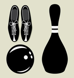 bowling set1 resize vector image vector image