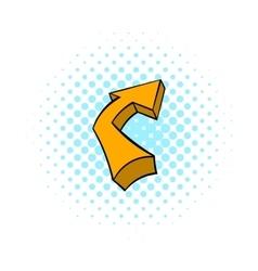 Broken yellow arrow icon comics style vector