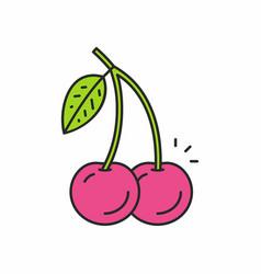 cherries icon vector image