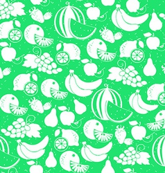 fruit white silhouette seamless pattern vector image vector image