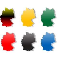 Germany stickers vector