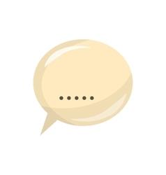Glossy speech bubble icon cartoon style vector