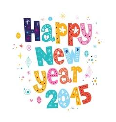 Happy new year 2015 card 3 vector