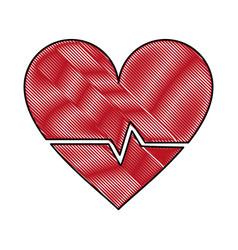 Heartbeat medical symbol vector
