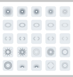 icon set of vintage sparkles and stars vector image vector image