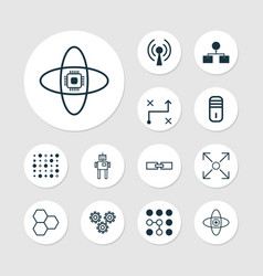 Learning icons set collection of computing vector