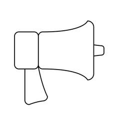 Line horn speaker symbol icon vector