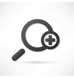 Magnifying glass vector image
