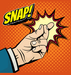 male hand with snapping finger magic gesture its vector image vector image