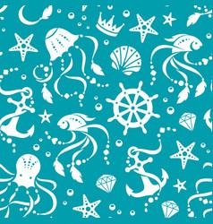 Ocean treasures seamless pattern vector