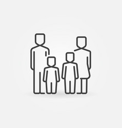 Parents and kids icon vector