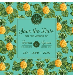 Save the date - wedding invitation card vector