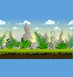 seamless cartoon background for game design with vector image vector image