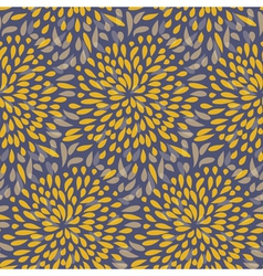 Seamless splattered fireworks pattern in orange vector image