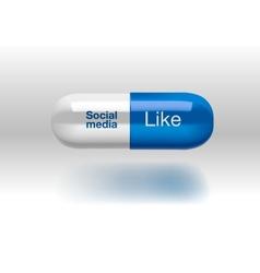 Social media addiction concept pill isolated vector