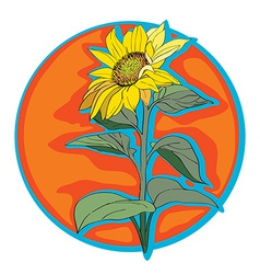 sunflower clip art vector image vector image
