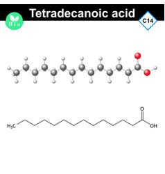 Tetradecanoic acid molecule myristic acid vector