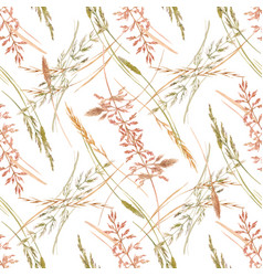 Wild field grass pattern vector