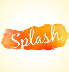 Orange color ink splash vector