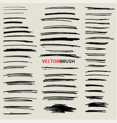 doodle pencil stroke brush set vector image