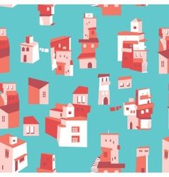 House set asian city pattern vector