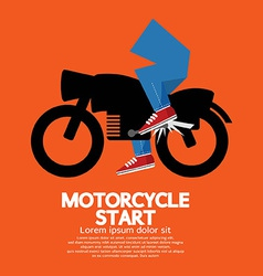Starting motorcycle graphic vector