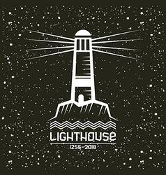 Lighthouse emblem vector
