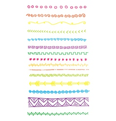Bright doodle lines and borders clip art vector