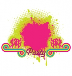 party grunge background vector image
