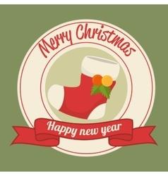 Merry christmas card design vector image