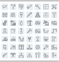 Outline web icons set - building construction and vector