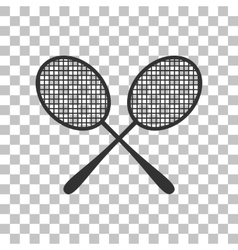 Tennis racquets sign dark gray icon on vector