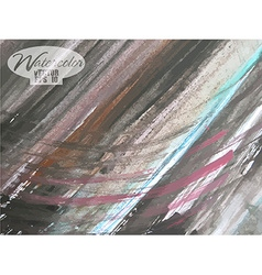 Abstract watercolor painted background vector image vector image