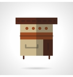 Bakery appliance flat color design icon vector image vector image