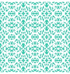 Elegant lace pattern with white lines on aqua blue vector image