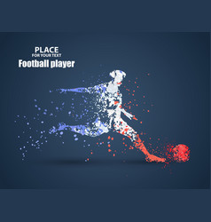 France football championship with player and flag vector