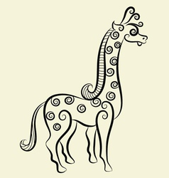 Giraffe decorative vector image